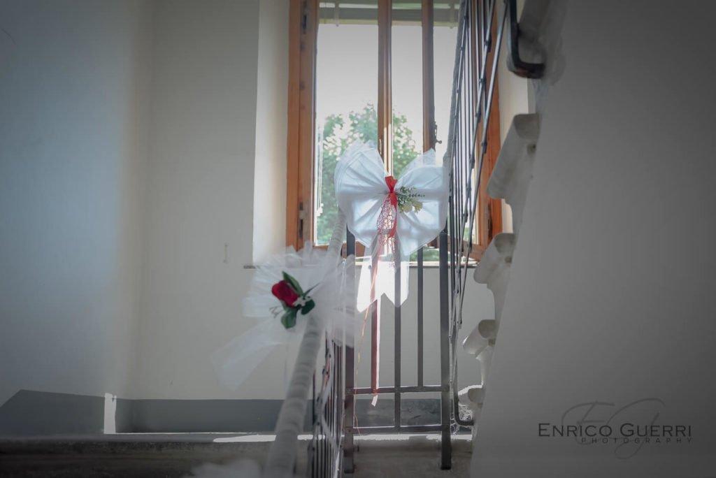 decorazione scale matrimonio