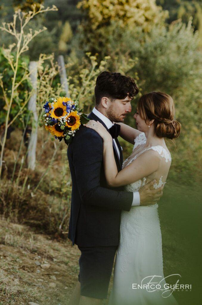servizio fotografico matrimonio Firenze bouquet sposa