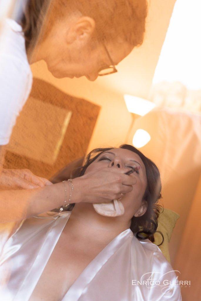 meraviglioso make-up della sposa